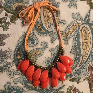 Baublebar Tangerine 🍊Teardrop Statement Necklace
